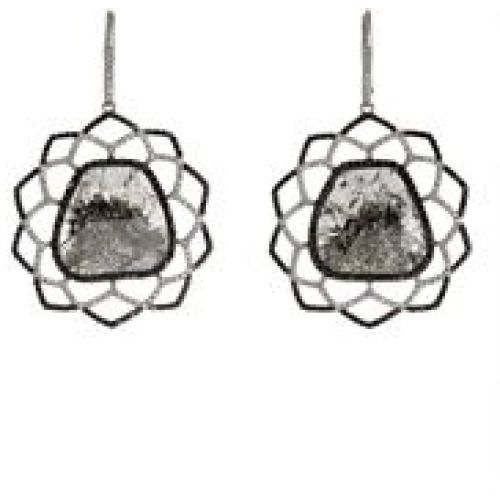 Sharon Khazzam Anka Drop Earrings-Colorless