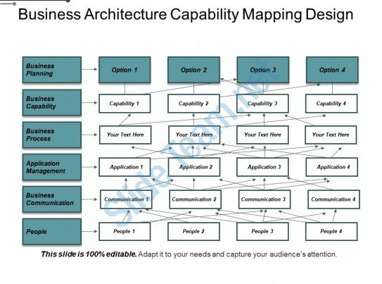 business architecture capability mapping design slide01. Black Bedroom Furniture Sets. Home Design Ideas