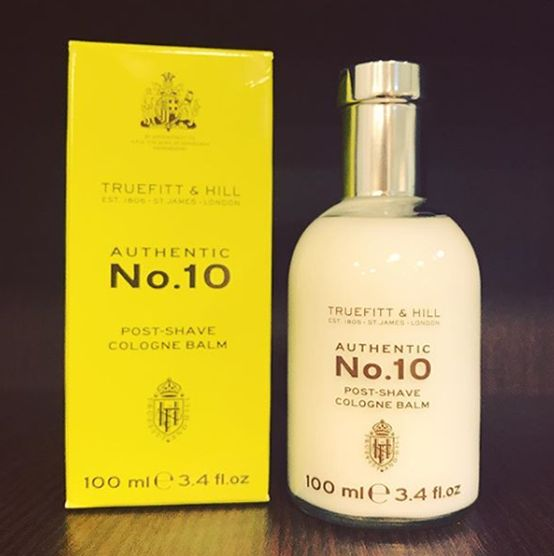 Truefitt & hill authentic No.10 post shave cologne balm! #truefittandhill #postshave #postshavebalm #cologne #shaving #shavingproducts #bestquality #shavingtime #barberproducts