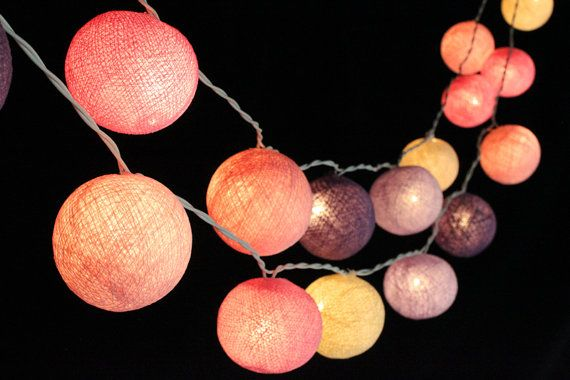 Cotton Ball String Lights is a 100% handmade product which is made from cotton threads. All products are made with care by skilled craftsmen in our family . We guarantee that you will truly get delicate, beautiful and unique products in the original production of Cotton ball lights. All our products are produced day by day so you will absolutely get a beautiful and new product from DDLIGHTS. We recommend to use for home decoration, wedding decoration, bedroom light , party light and outdoor…