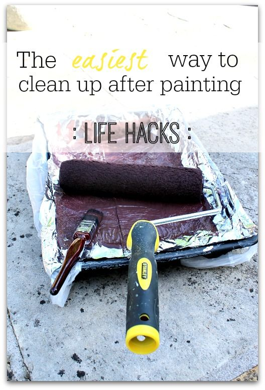 This is a great tip for saving loads of time cleaning up the paint tray after you decorate - simple but effective!