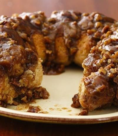 This classic monkey bread recipe is one of Betty's most popular brunches, and it's easy to see why. Each caramel-drenched piece is covered in crunchy pecans and cinnamon. Make sure to use real butter for this recipe!