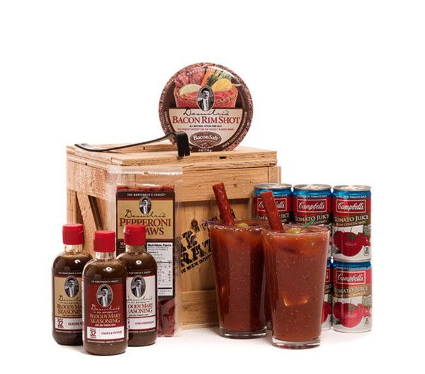 Need a gift for someone who loves a good cocktail? Sent them the Bloody Mary Crate. This crate features three gourmet bloody mixes from Demitri's including; Classic, Horseradish and Chilies and Pepper