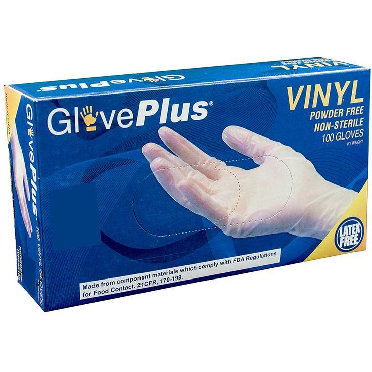 Ammex ivpf46100bx vinyl gloves gloveplus