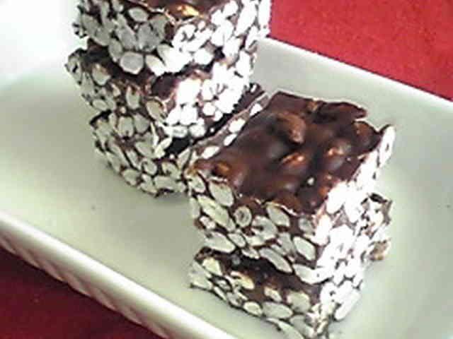 *余ったポン菓子で作る♪ライスチョコ*の画像