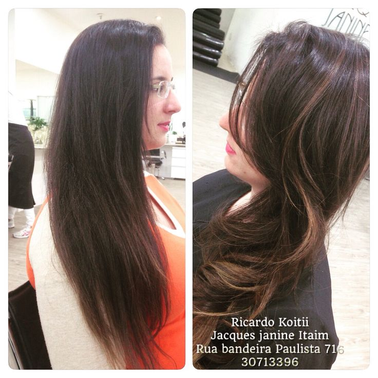 #Castanho iluminado  Para valorizar o cabelo castanho, alguns pontos de luz bem esfumaçado sem deixar as mechas marcadas na raiz.