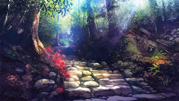 anime background along the chosen path pinterest