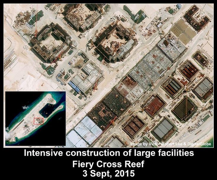 Fiery Cross Reef, Spratlys. Article by Victor Robert Lee.
