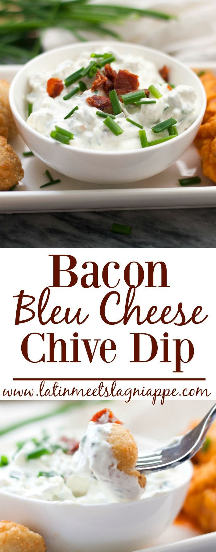 This tasty Bacon Bleu Cheese Chive Dip is a simple and delicious snack! #ad #20MinutesToTasty /farmrichsnacks/ /walmart/