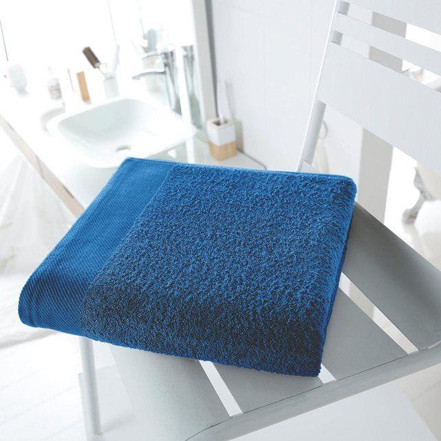 Drap de bain uni 500 g/m² SCENARIO (bleu nautique) - sdb garçons