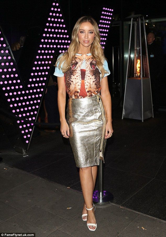 Flawless: Lauren Pope was certainly dressed to impress on Friday night as she made her way...