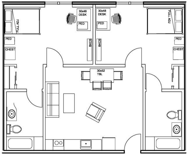 81 best images about cubular floor plans on pinterest for Two bedroom hall kitchen house plans
