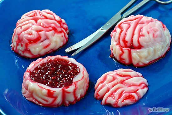 Zombie Brains Jello Shots | The Ultimate Collection Of Creepy, Gross And Ghoulish Halloween Recipes