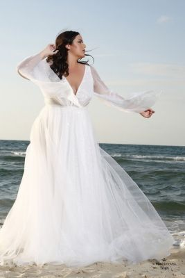 61476f21550 Plus size boho wedding dress Trish-(1)