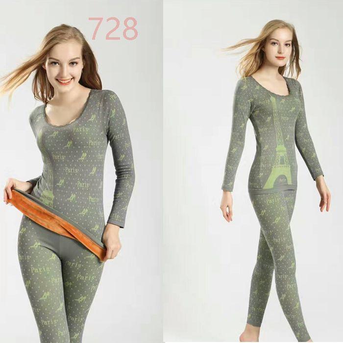 Women Thermal Underwear Velvet Warm Thick Bodysuit  Female Warm Winter Suit