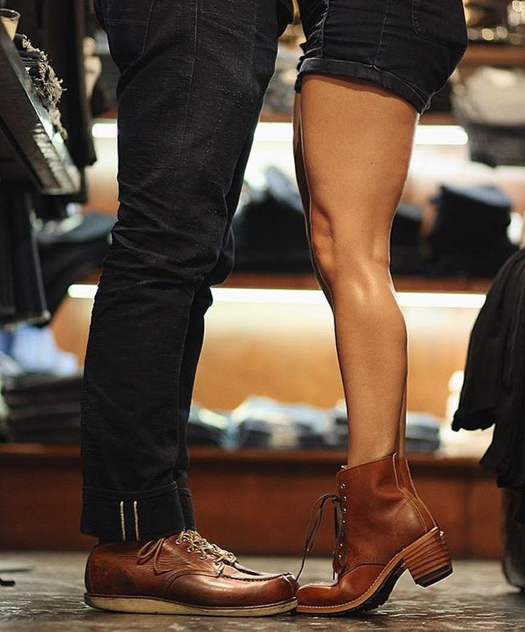 """redwingshoestoreamsterdam: """" His & hers Red Wing Shoes! We offer a full collection of Men & Women Red Wing Shoes in the Amsterdam store. Bring your girlfriend by for some Red Wings :) - http://ift.tt/180OFjM - http://ift.tt/2f6ZzF0 """""""