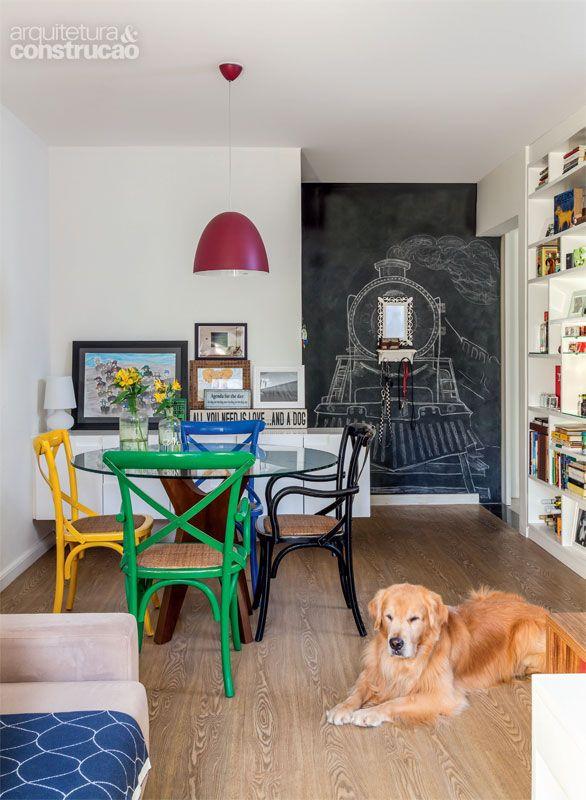 Apartamento pequeno: os 55 m² acomodam o casal e um cachorro grande - Casa