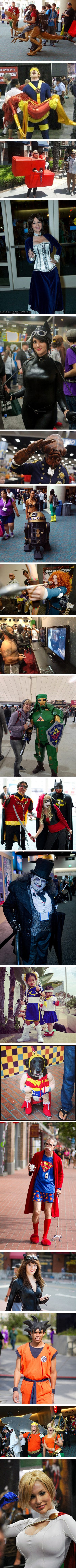 some cool and creative cosplayers from Comic Con 2013. Please tell me they noticed Meg  Turney