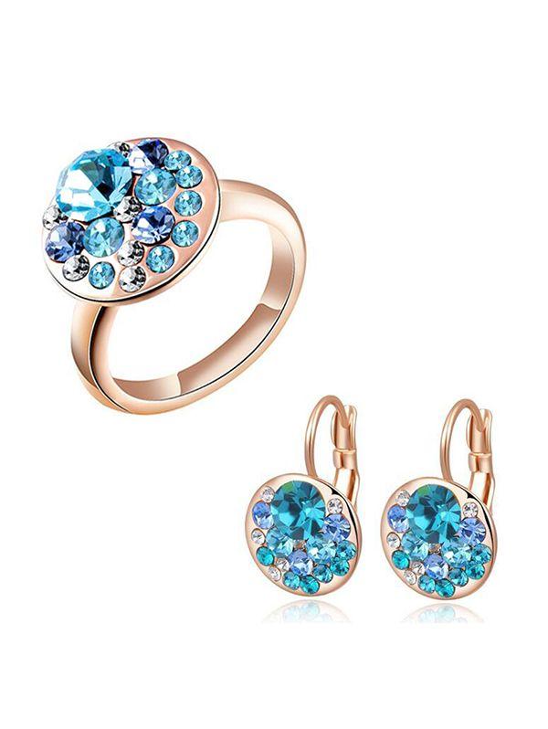 China rhinestone jewelry supplier for fashion rose gold jewelry