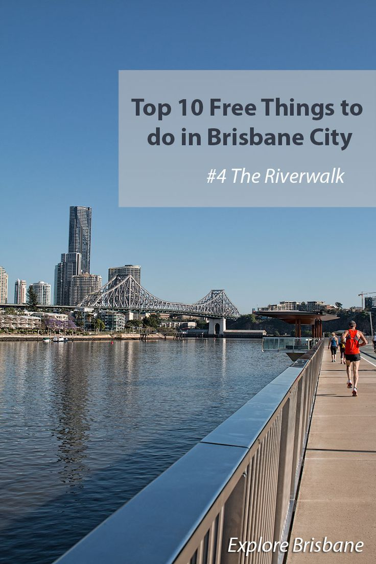 Top 10 Free Things To Do In Brisbane City 1. Queens Street Mall 2. City Hall 3. Eagle Street Pier 4. Brisbane Riverwalk 5. See the city from the river 6. South Beach 7. Southbank 8. The Cultural Precinct 9. Heritage Trail 10. Botanic Gardens (11. Bonus: Free Wifi)