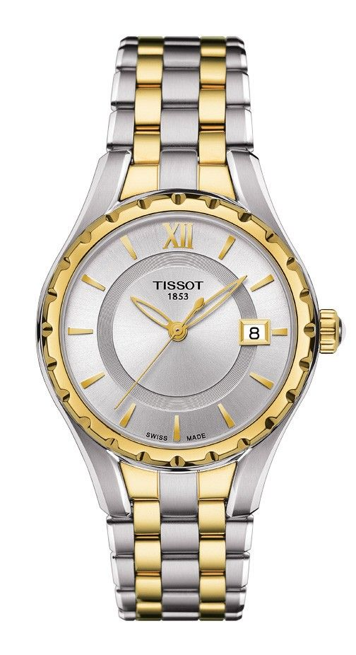 Tissot Lady Quartz Silver Dial Watch with Two-Tone Stainless Steel Bracelet