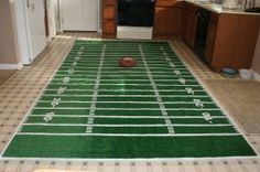 Football field rug - Nique and Aldreana Fikes will help me make this for the foyer/photo booth!!