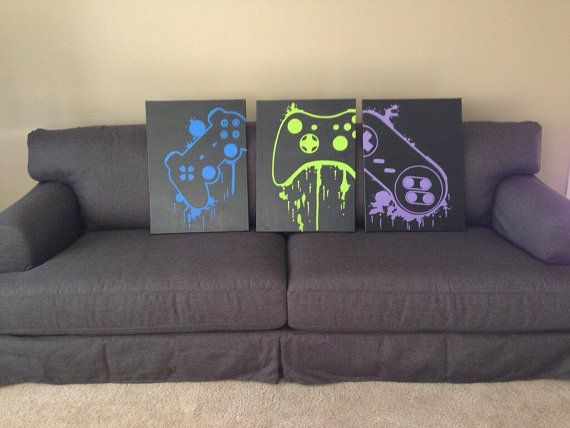 Video Game Controller Art by ControlFreakGameArt on Etsy, $35.00