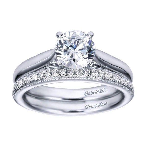 Gabriel 14 Karat Victorian Wedding Band WB6672W44JJ - Ladies - Wedding Rings | TQ Diamonds