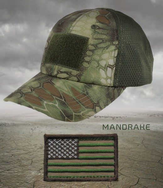 Active Duty Gear Condor Flex Mesh Cap /(Brown/) + PVC Flag
