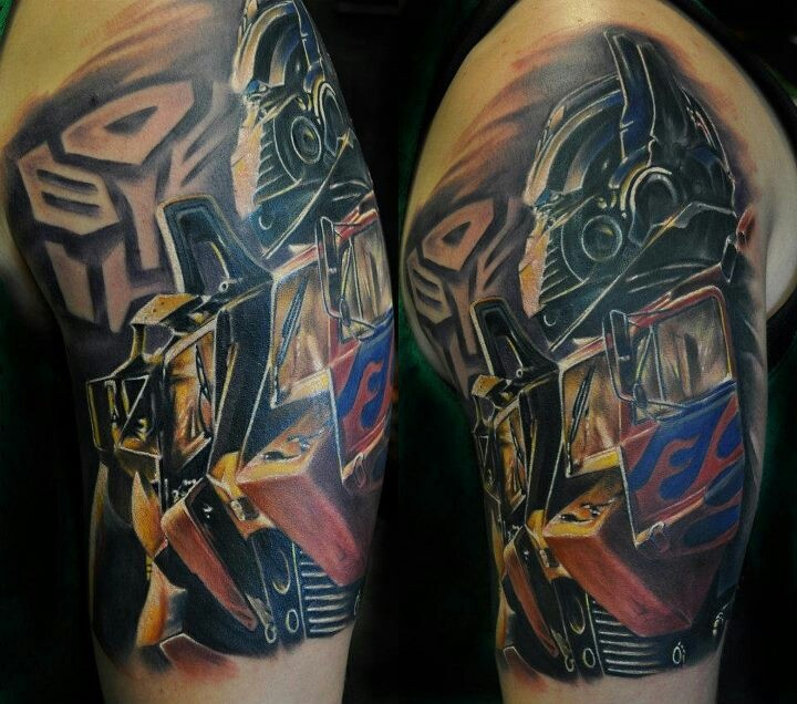 Transformers tattoo I love this on so many levels :)