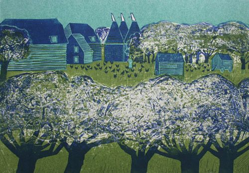 """Apple Blossom"" by Robert Tavener 1920-2004  St. Jude's specialising in British printmaking"