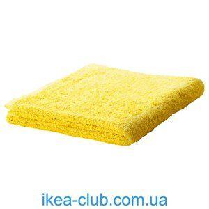 ИКЕА, IKEA, ГЭРЕН, 002.958.27, Банное полотенце, ярко-желтый, 70x140 см