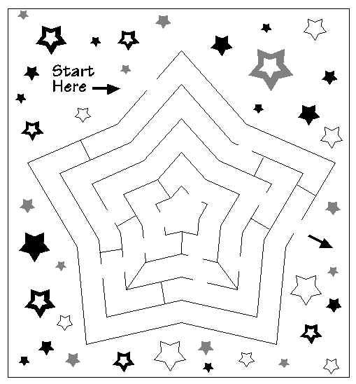 Printablecolouringandactivity 3 Mazes: Free Printable Coloring And Activity Pages. Find The