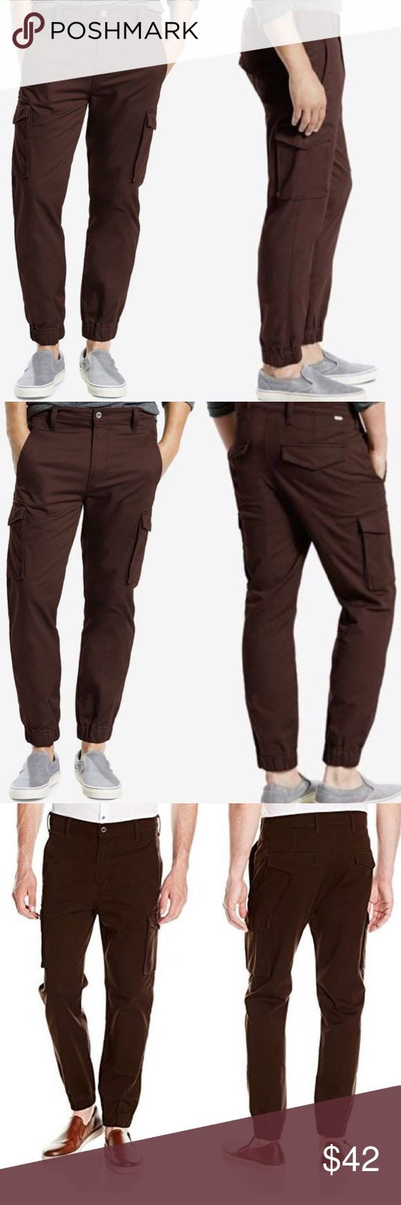 NWT LEVI'S Banded Cargo Pants joggers LEVI'S Khaki jogger pants.  31WX32L Levi's Pants Cargo