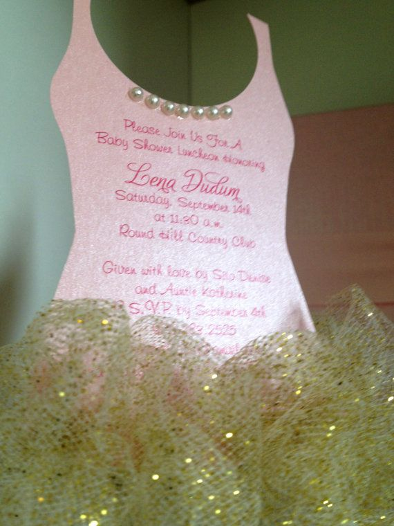 tutu baby shower invitation gold ballerina baby shower invitation tutu