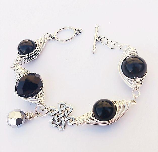 """bySHINE""""CELTYCKA LEGENDA"""" BRANSOLETKAwire wrapping w  Biżuteria ze Szczyptą  Magii * by SHINE na DaWanda.com"""