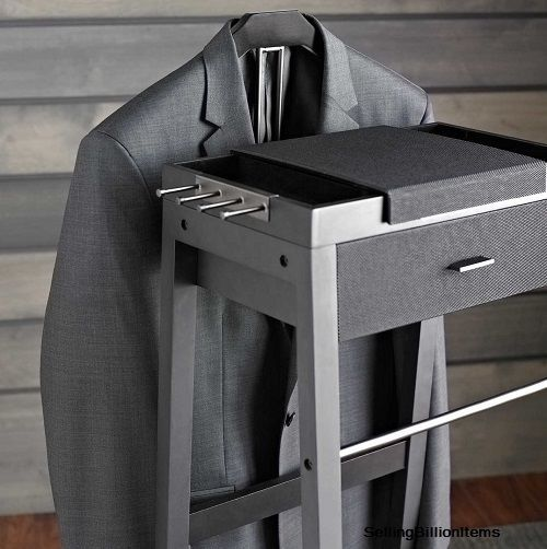 Portable Wardrobe Closet Valet Stand Men Suit Rack Clothes Clothing Hanger Coat  #PortableWardrobeCloset