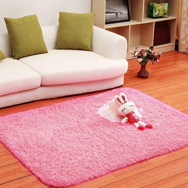 1PCS 80x120cm Floor Carpets Anti-skid Shaggy Rug Sofa Bedroom Living ...