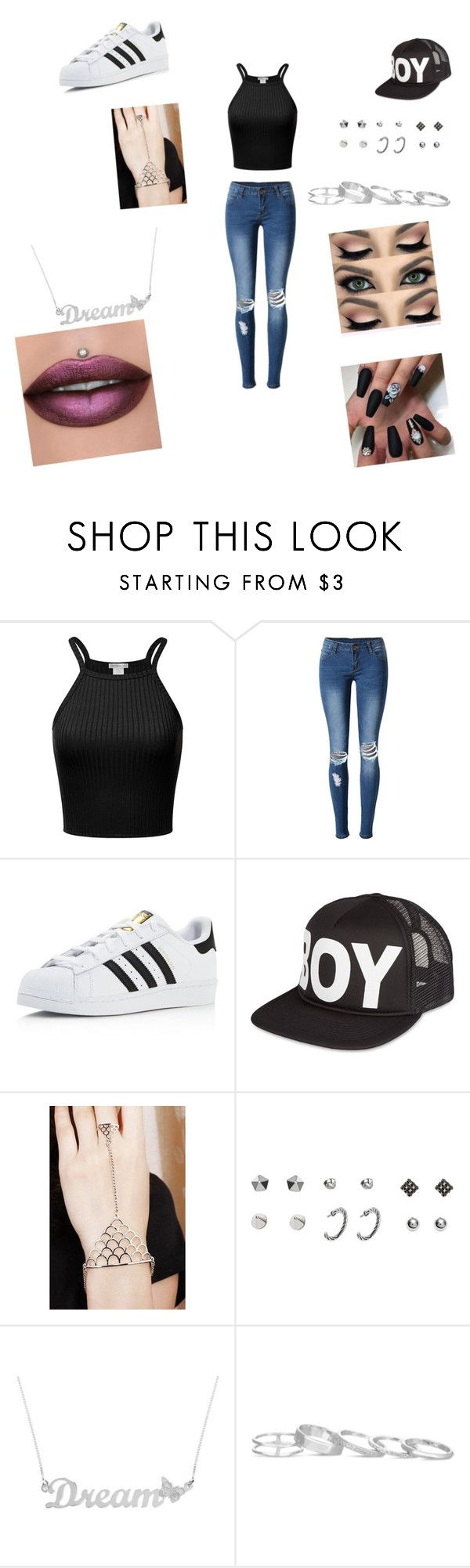 """muneco de Lego"" by vyesica-yv on Polyvore featuring WithChic, adidas, BOY London, Anna Lou of London and Kendra Scott"