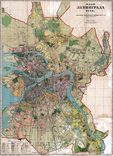 Leningrad Map, 1939.