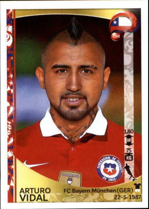 el rey arturo....2016 Panini Copa America Centenario Stickers #339 Arturo Vidal