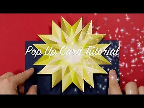Last Minute Christmas Pop Up Card Tutorial - YouTube