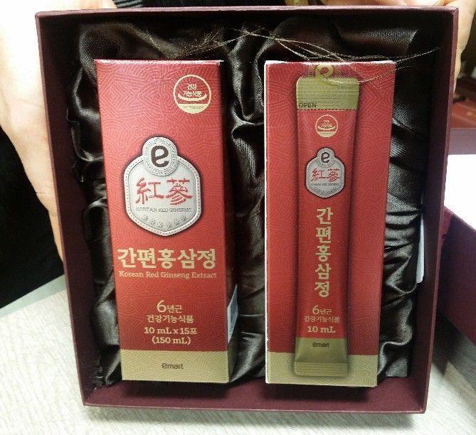 100% 6Years Root Korean Red Ginseng Extract Emart Easy HongSamJung(10ml 30Pouch) #Emart