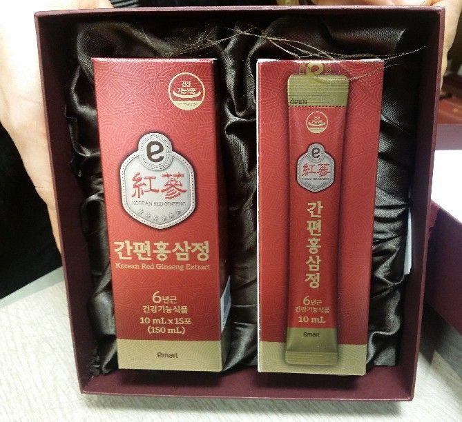 100% 6Years Root Korean Red Ginseng Extract Emart Easy HongSamJung(10ml 30Pouch) #Emart