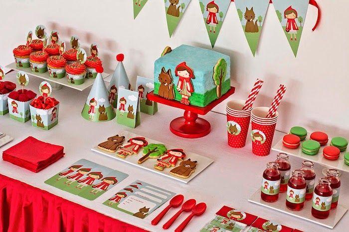festa chapeuzinho vermelho. Ideal para festa escolar. linda.