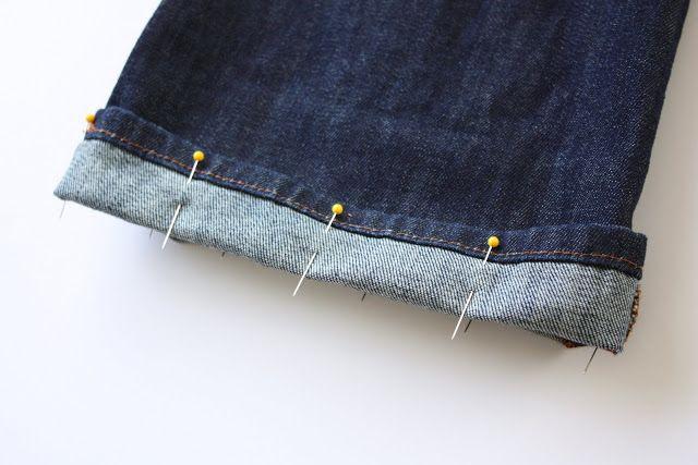 Como fazer bainha de jeans original   Clubinho da Costura