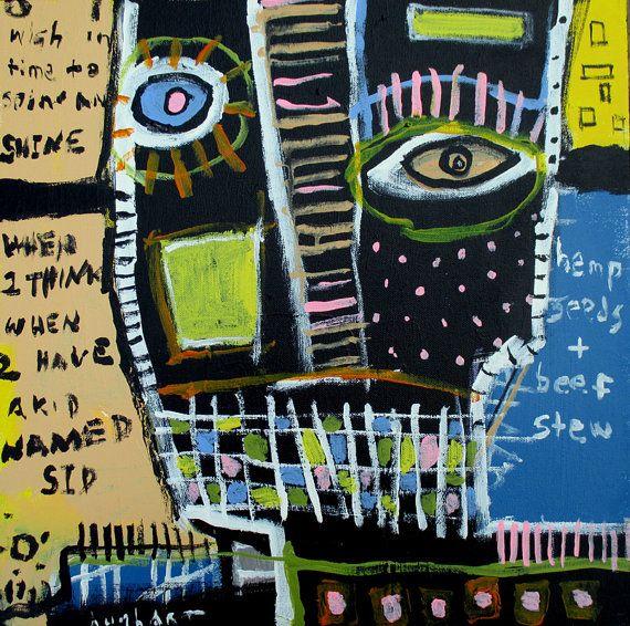 basquiat picasso inspired ORIGINAL Hughart by ARTbyjeffhughart