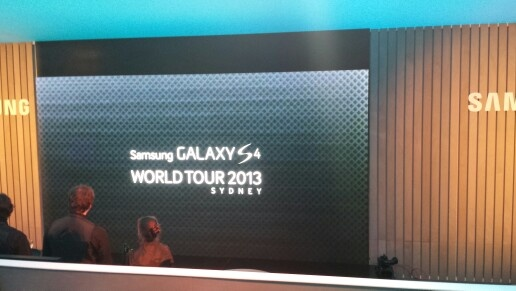 Incredible setup here for the SG4 phone launch
