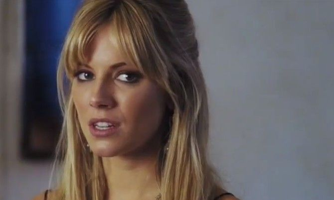 "Sienna Miller's blonde wispy hair became her signature look in ""Alfie""."