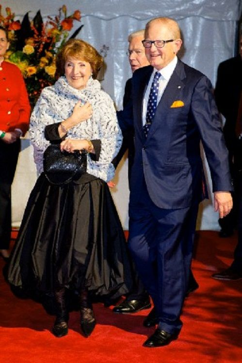 Princess Margriet and Pieter van Vollenhoven of The Netherlands attend the kingdom's concert at the circus theater in Scheveningen, The Hague, 30.11.13.